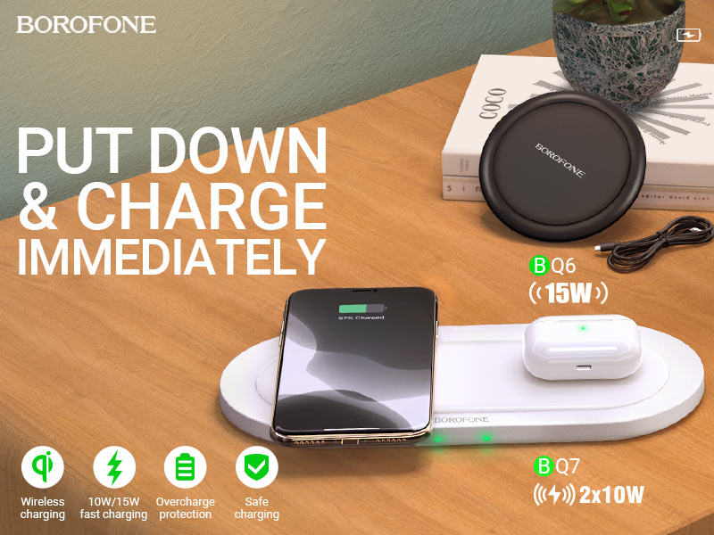 borofone news bq6 bq7 wireless fast charge collection banner en