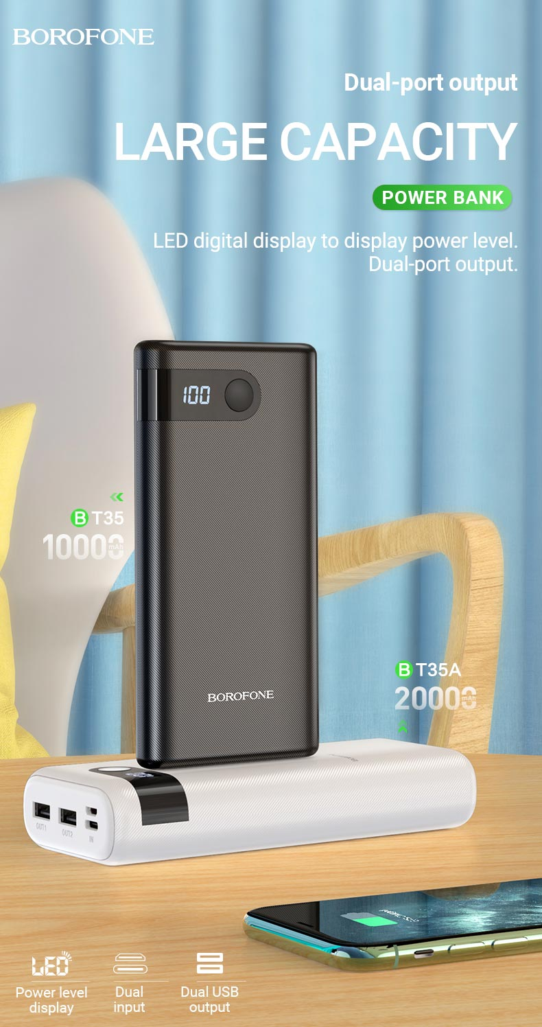 borofone news bt35 bt35a hot selling power banks collection capacity en