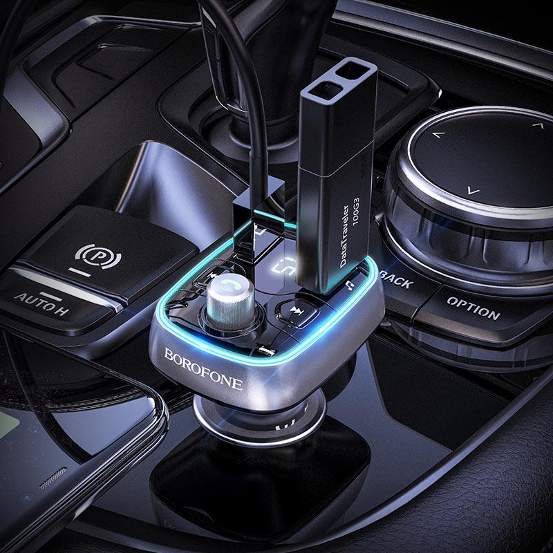 Автомобильное зарядное устройство и FM передатчик BC32 Sunlight