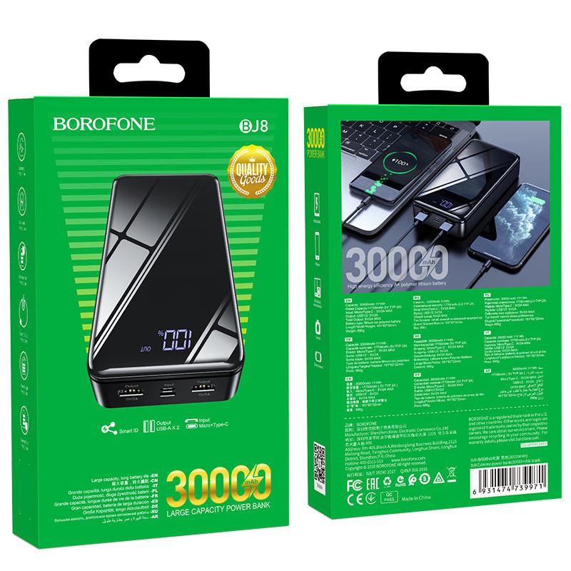 borofone bj8 extreme power bank 30000mah package
