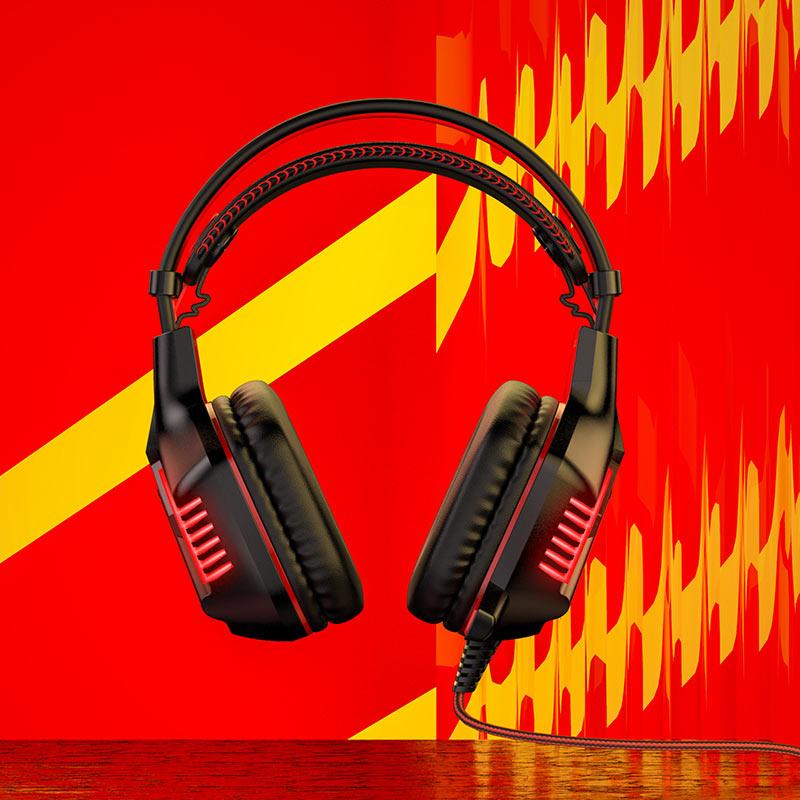 borofone bo101 racing gaming headphones overview