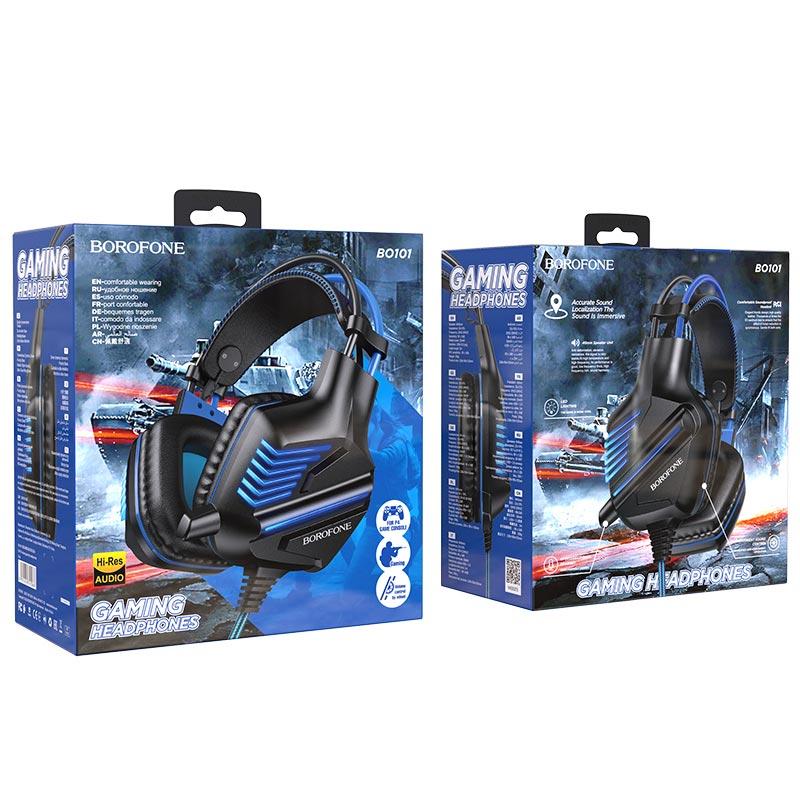 borofone bo101 racing gaming headphones package blue