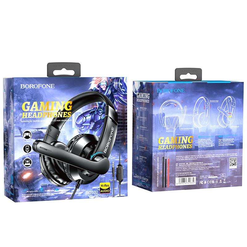 borofone bo102 amusement gaming headphones package black