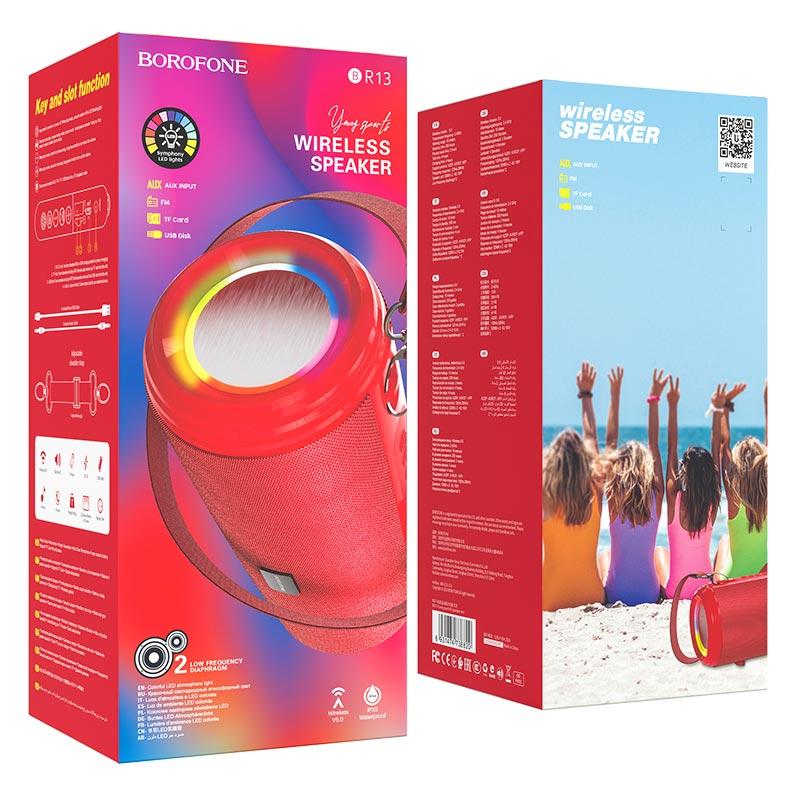 borofone br13 young спортивная bt колонка упаковка красный