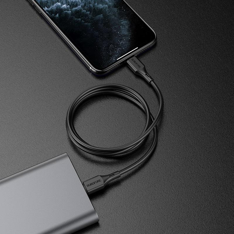 borofone bx49 cool pd кабель для зарядки и передачи данных usb c на lightning интерьер