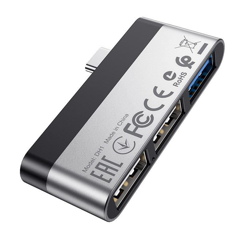 borofone dh1 usb c на usb адаптер порты
