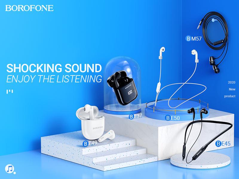 borofone audio products collection november 2020 banner en
