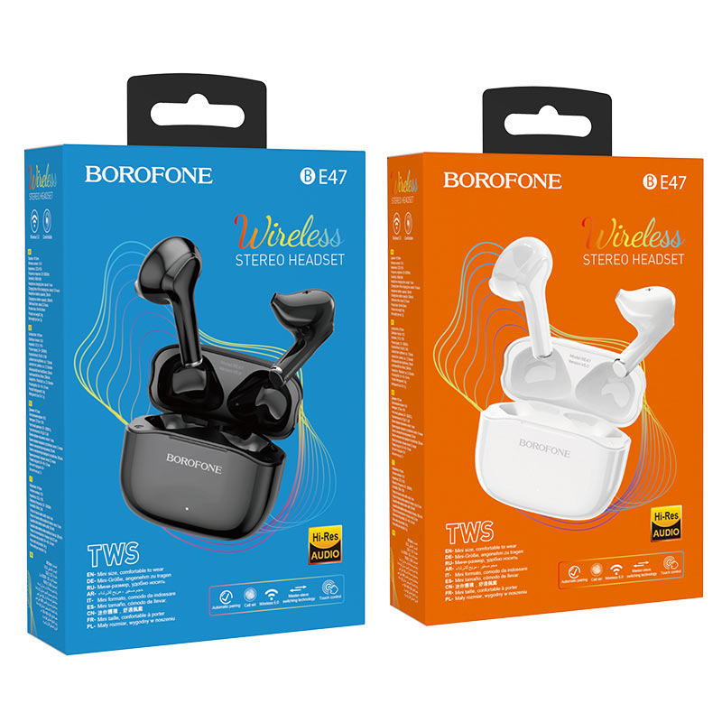 borofone be47 perfecto tws wireless bt headset packages