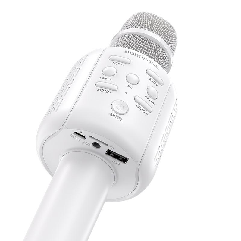 borofone bf1 rhyme karaoke microphone buttons
