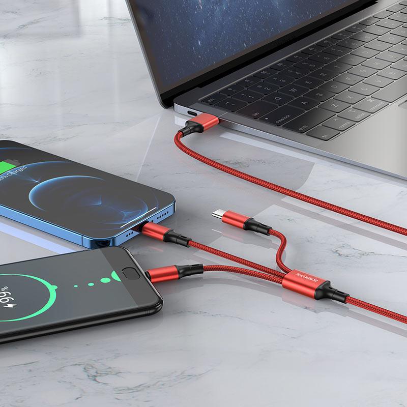 Кабель 3 в 1 Lightning / Micro-USB / USB-C BX50 Fresco
