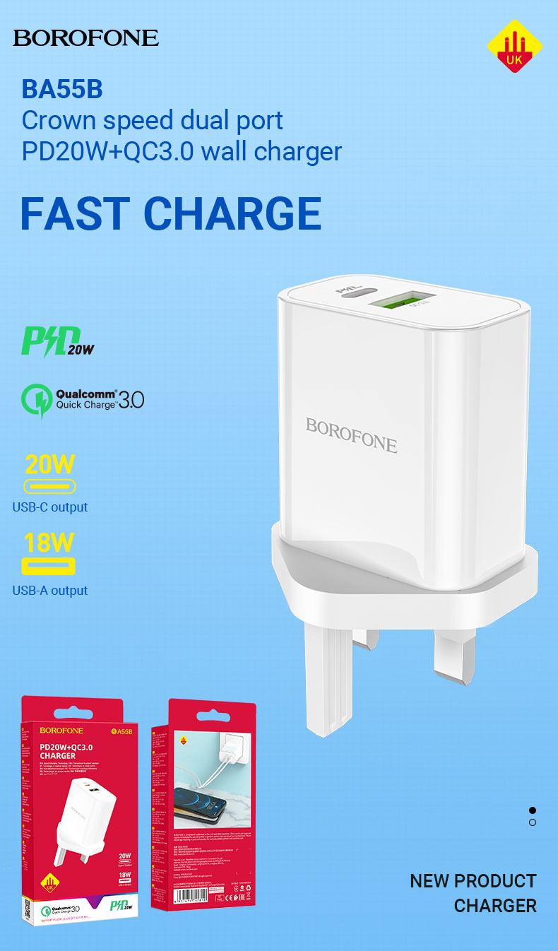 borofone news chargers collection december 2020 ba55b en
