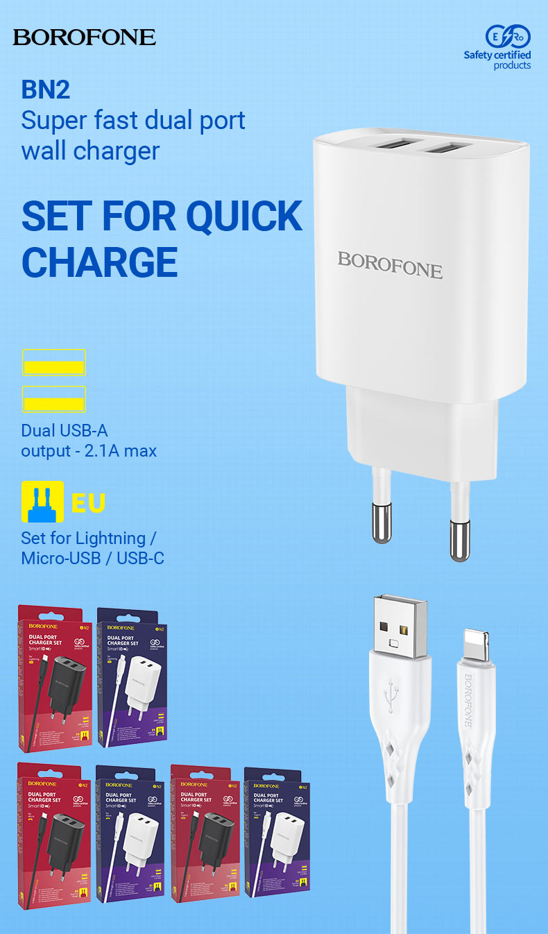 borofone news chargers collection december 2020 bn2 set en