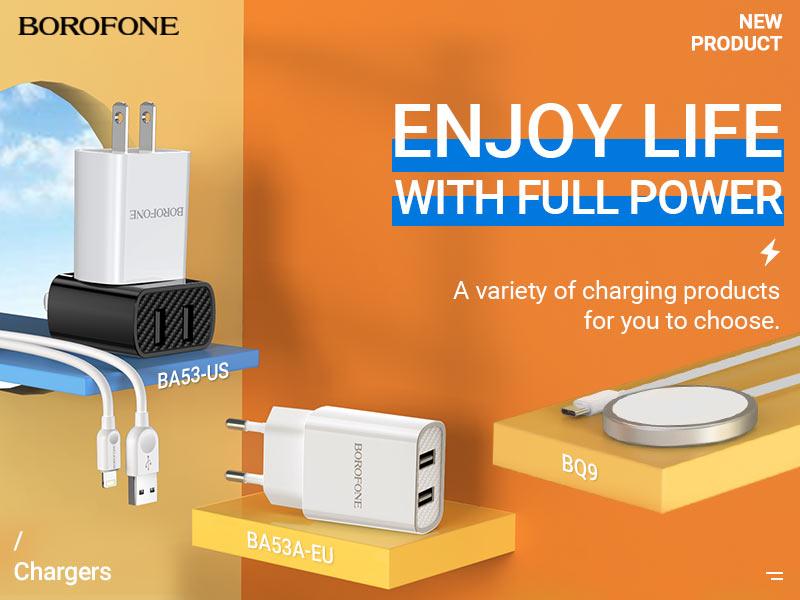 borofone news chargers collection november 2020 banner en