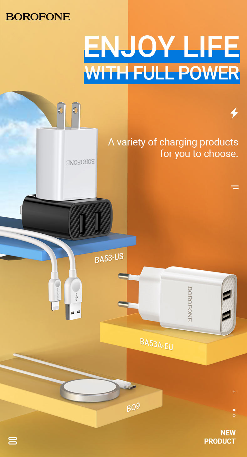 borofone news chargers collection november 2020 en