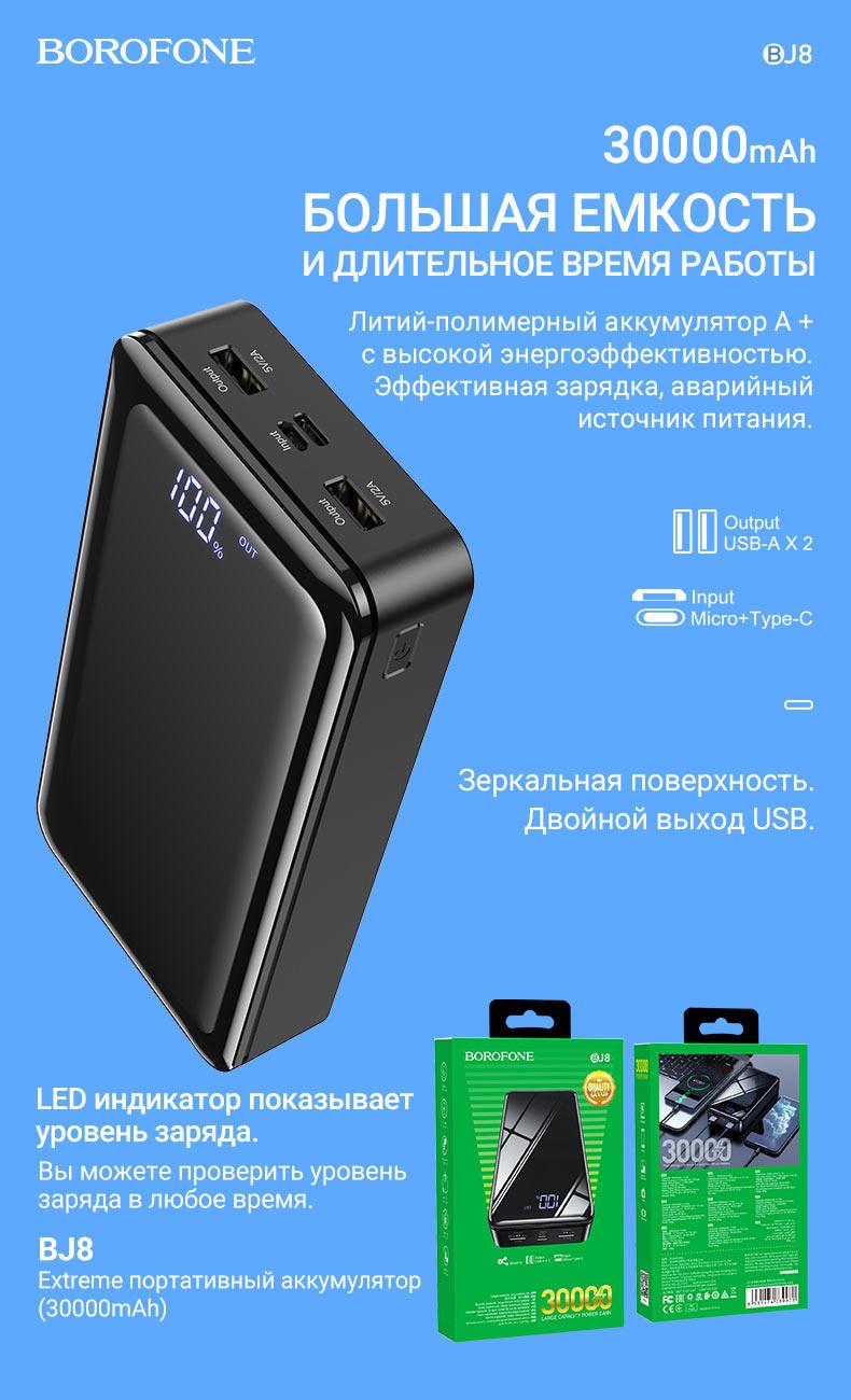 borofone новости портативные аккумуляторы коллекция декабрь 2020 bj8
